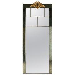 Huge Italian Deco Style Mirror