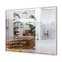 """Huge Italian Gino Sarfatti """"Infinito"""" Mirror 120 Bulbs"""