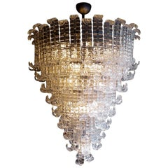 Huge Italian Murano Glass Chandelier