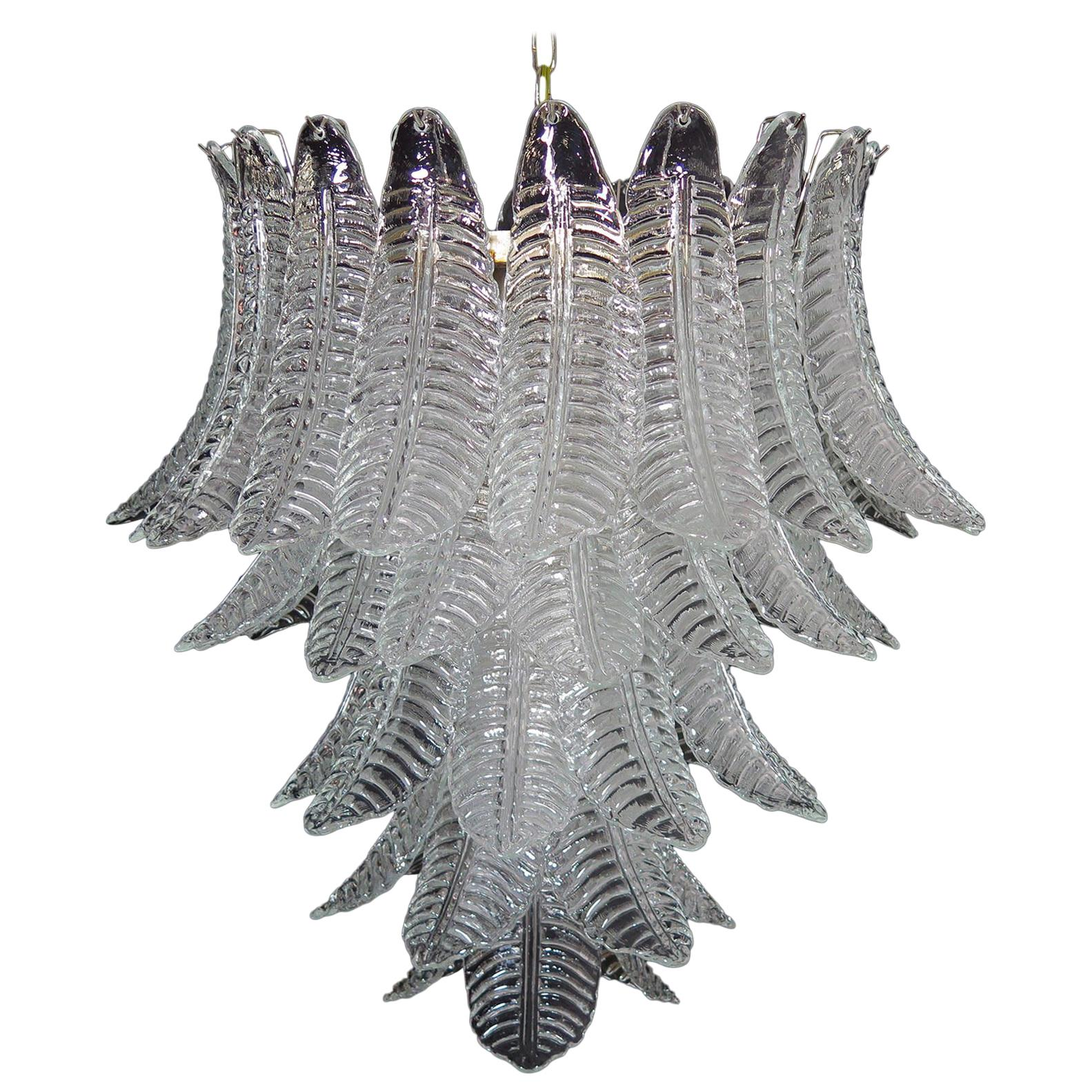 Huge Italian Murano Six-Tier Felci Glass Chandelier