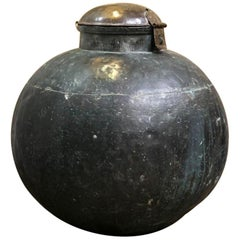 Huge Late 18th Century Indian Copper Water Flask