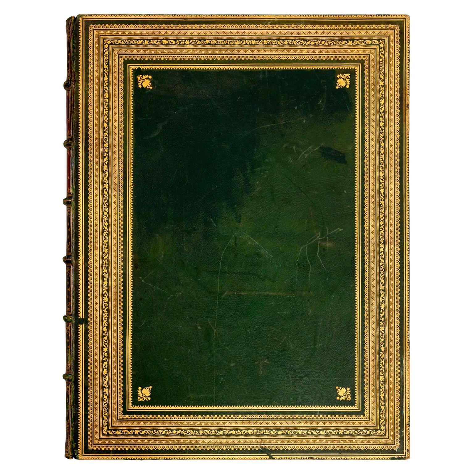 Huge Leatherbound Book Musee Francois Pre 1815 Paris