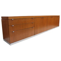 Huge 11ft Long Vintage Mid-Century Modern Teak Credenza by John Geiger for IIL