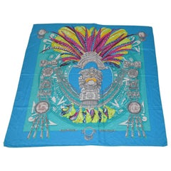 "Huge Magnificently Beautiful ""Inca"" Silk Scarf/Shawl"