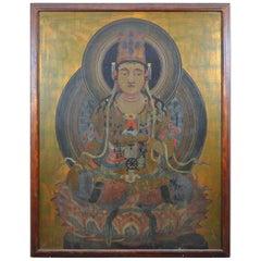 Huge Medicine Buddha Painting Large Scale Ausadhi Badhai