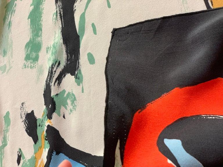 Huge Michaele Vollbracht Central Park Carousel Silk Scarf or Sarong Beach Cover For Sale 6
