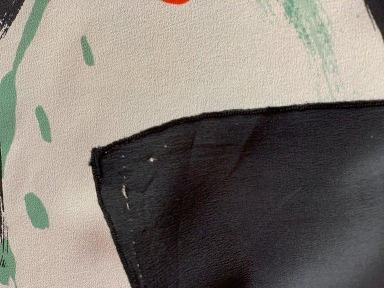 Huge Michaele Vollbracht Central Park Carousel Silk Scarf or Sarong Beach Cover For Sale 7