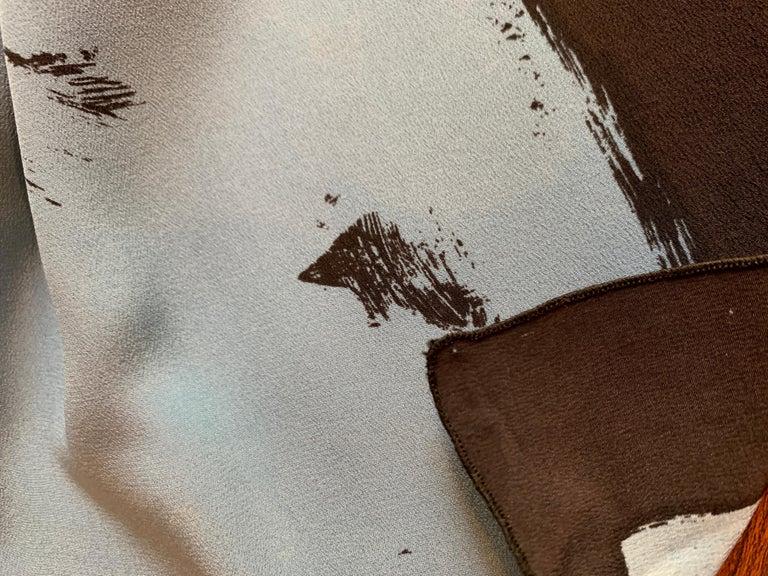 Huge Michaele Vollbracht Central Park Carousel Silk Scarf or Sarong Beach Cover For Sale 9