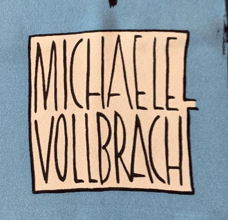 Huge Michaele Vollbracht Central Park Carousel Silk Scarf or Sarong Beach Cover For Sale 1