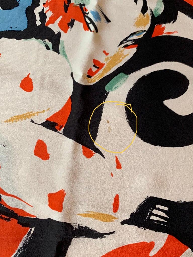 Huge Michaele Vollbracht Central Park Carousel Silk Scarf or Sarong Beach Cover For Sale 2