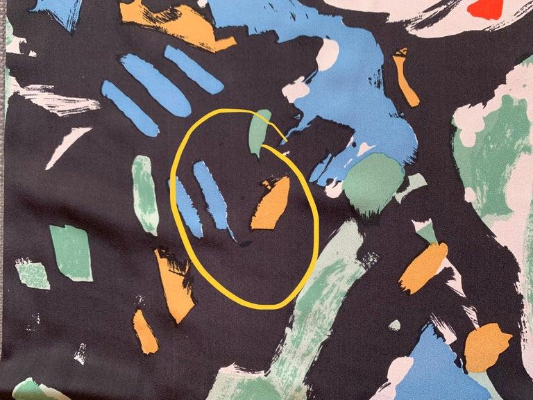 Huge Michaele Vollbracht Central Park Carousel Silk Scarf or Sarong Beach Cover For Sale 3