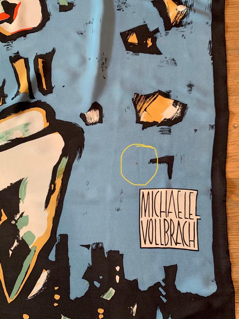 Huge Michaele Vollbracht Central Park Carousel Silk Scarf or Sarong Beach Cover For Sale 4
