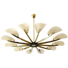 Huge Mid-Century Modern 12 Armed Sputnik Chandelier or Pendant Lamp, 1950s