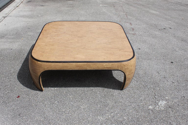 Huge Mid-Century Modern Maitland Smith Tessellated Stone Coffee Table, 1970s For Sale 4