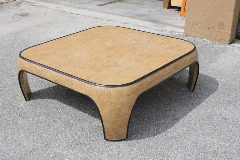 Huge Mid-Century Modern Maitland Smith Tessellated Stone Coffee Table, 1970s For Sale 8
