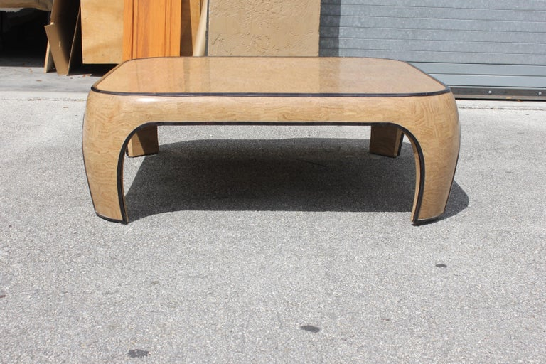 Late 20th Century Huge Mid-Century Modern Maitland Smith Tessellated Stone Coffee Table, 1970s For Sale