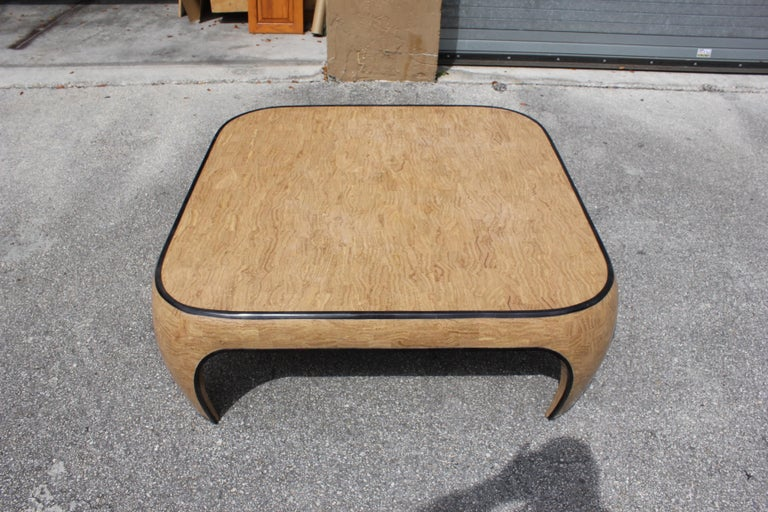 Marble Huge Mid-Century Modern Maitland Smith Tessellated Stone Coffee Table, 1970s For Sale