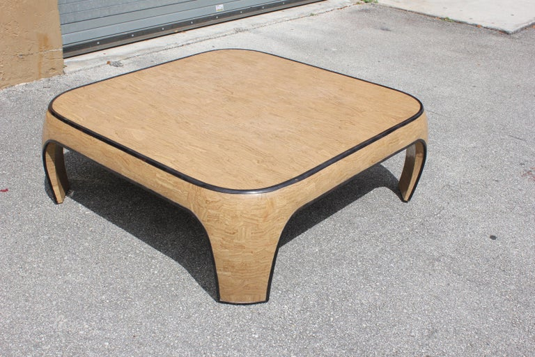 Huge Mid-Century Modern Maitland Smith Tessellated Stone Coffee Table, 1970s For Sale 1