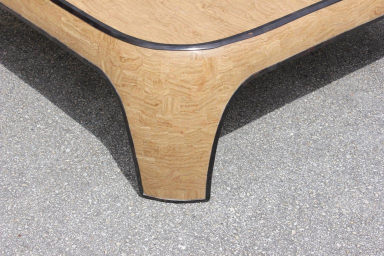 Huge Mid-Century Modern Maitland Smith Tessellated Stone Coffee Table, 1970s For Sale 2