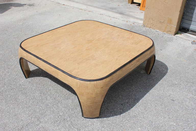 Huge Mid-Century Modern Maitland Smith Tessellated Stone Coffee Table, 1970s For Sale 3