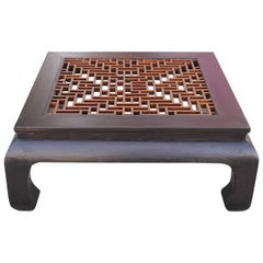 Huge Ming Style Coffee Table with Fretwork