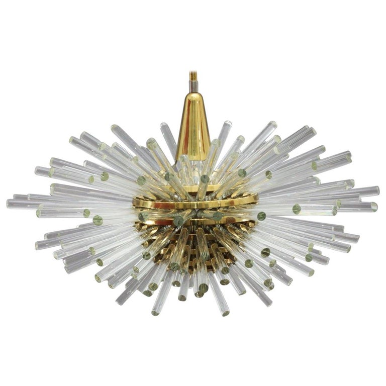 "Huge ""Miracle"" Sputnik Chandelier Vienna 1960s by Bakalowits For Sale"