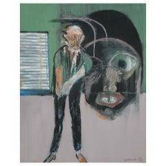Huge Modern Art Expressionist Oil Painting by Michael Hafftka, Meltzer Meltzer