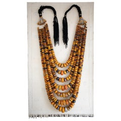 Huge Moroccan Amber Necklace Wall Art