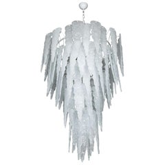 Huge Murano Glass Chandelier in the Style of Seguso