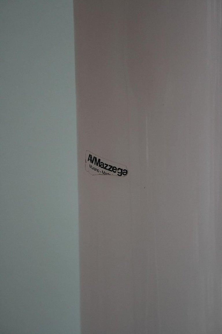 Late 20th Century Huge Murano Glass Floor Lamp by AV Mazzega, Italy For Sale