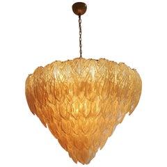 Huge Murano Glass Golden Glass Pendant