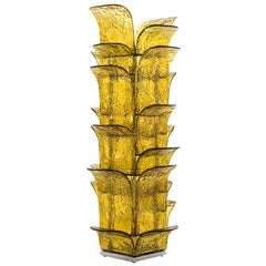 Huge Murano Glass Leaves Floor Lamp by Carlo Nason for Mazzega