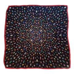 Huge New Alexander McQueen Jeweled Bug  Print Silk Scarf in Black and Multi