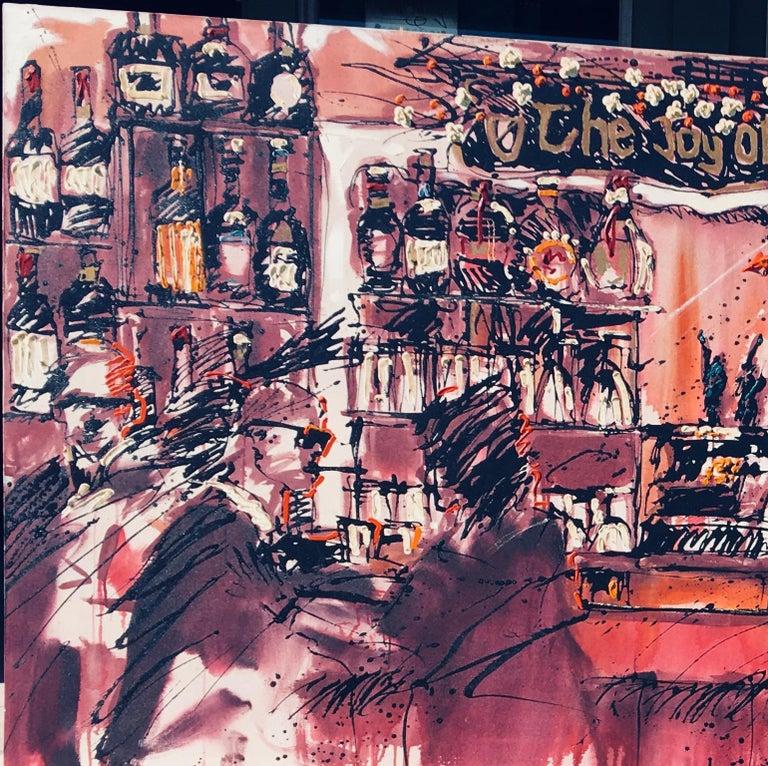 Modern Iconic Huge Newport Beach Bar Painting