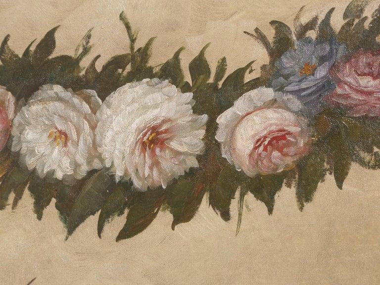 Belgian Huge Oil Painting from Belgium Titled, Spring Garden Picnic For Sale