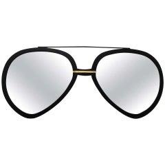 Huge Pair of Aviator Sunglasses Mirror in Black Matte Frame