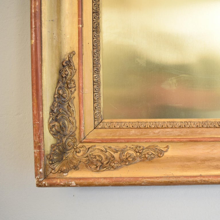 German Huge Pair of Late 19th Century Frames with Modern Paintings on Brass For Sale