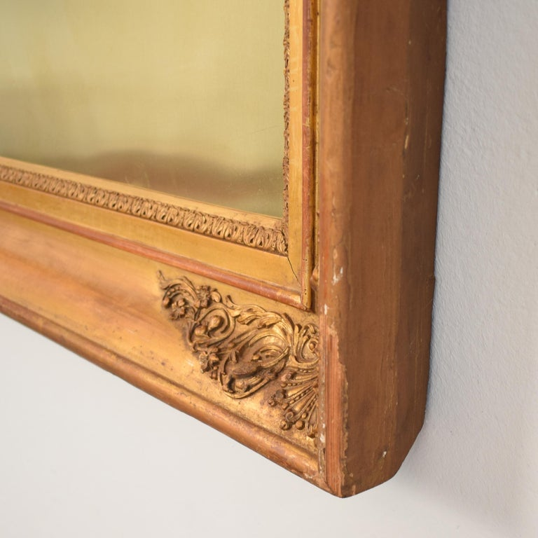 Huge Pair of Late 19th Century Frames with Modern Paintings on Brass For Sale 1