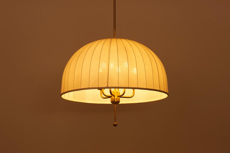 Brass Huge Pendant Lamp T549 by Hans-Agne Jakobsson for AB Markaryd, Sweden, 1960s For Sale
