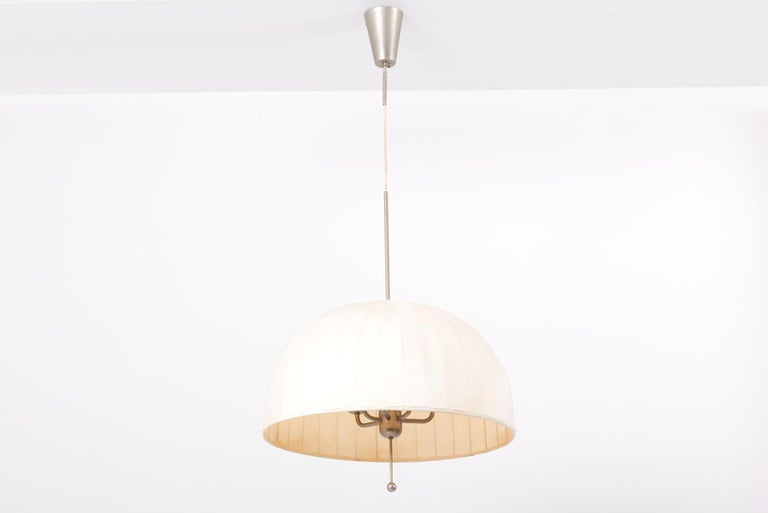 Fabric Huge Pendant Lamp T549 by Hans-Agne Jakobsson for AB Markaryd, Sweden, 1960s For Sale