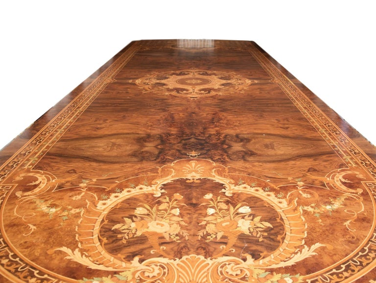 Italian Huge Persian Briar Wood Dining Table For Sale
