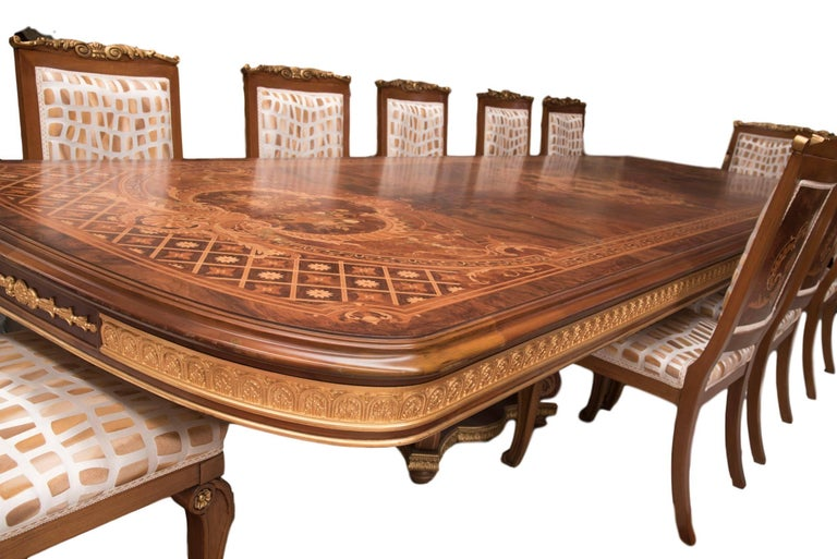 Huge Persian Briar Wood Dining Table For Sale 1