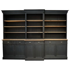 Huge Pine 6 Doors and Shelves Commerce Bookcase Cabinet in 6 Parts, circa 1920