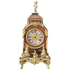 Huge, Rare Napoleon III Boulle Table Clock France, 19th Century