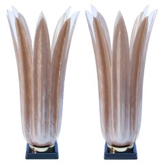 Huge Roger Rougier Floriform Acrylic Table Lamps Canada, 1970s