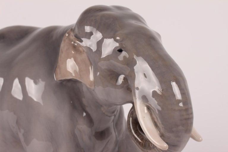 Art Nouveau Huge Royal Copenhagen Elephant Figure Designed, Theodor Madsen Denmark 1923-1934 For Sale
