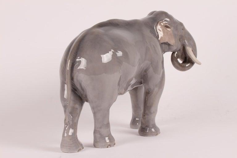 Danish Huge Royal Copenhagen Elephant Figure Designed, Theodor Madsen Denmark 1923-1934 For Sale