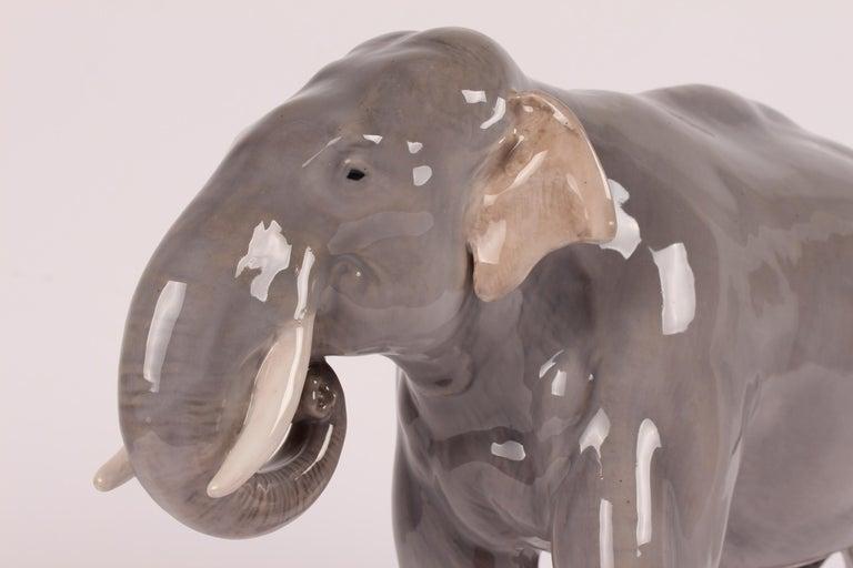 Huge Royal Copenhagen Elephant Figure Designed, Theodor Madsen Denmark 1923-1934 In Good Condition For Sale In Aarhus C, DK