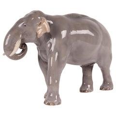 Huge Royal Copenhagen Elephant Figure Designed, Theodor Madsen Denmark 1923-1934