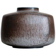 Huge Scandinavian Modern Stoneware Vase by Eva Staehr-Nielsen for Saxbo, Denmark